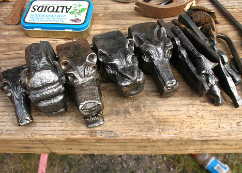 blacksmith animal heads