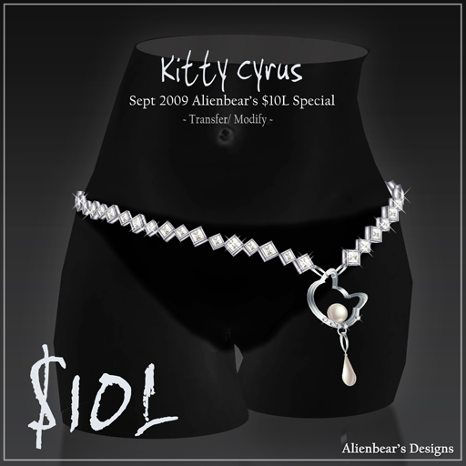 2009 10L cyrus dia belly chain