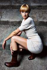 Monika Sledz S2 (Lola from SA) Tags: dublin woman white colour grey model fuji steps monika s5