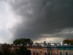 Perfect outline of a human skull in a cloud (yankeesmann1918) Tags: nyc cloud wall skull shelf human thunderstorm