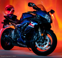 Suzuki GSX-R (Lloyd K. Barnes Photography) Tags: light painting motorbike paintingwithlight motorcycle flashlight suzuki product gsxr maglight gixxer zd 1445mm coloursplosion