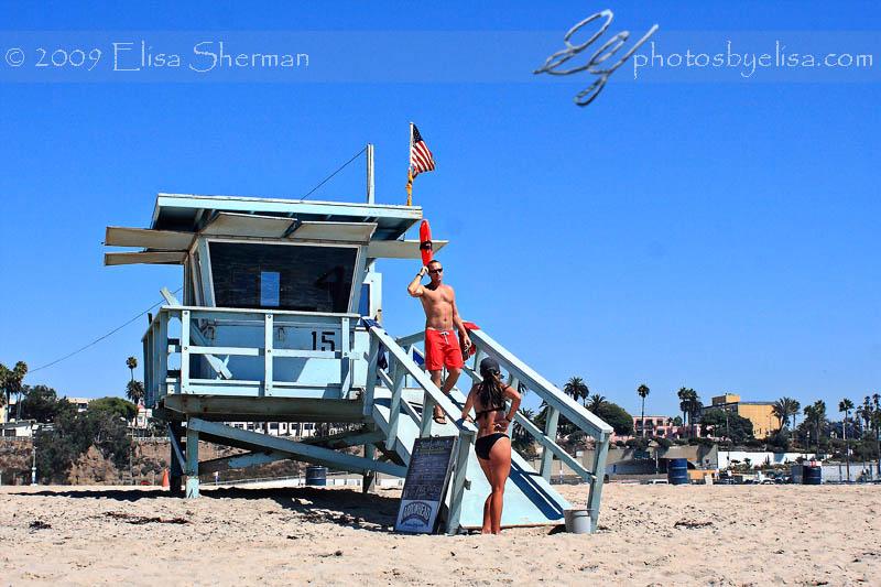 Santa Monica life guard station by Elisa Sherman   photosbyelisa.com