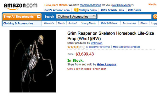 Grim Reaper on Skeleton Horseback Life-Size