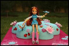 Stella from Winx, for Tatiana (Edible Imaginations/Schweet Caroline) Tags: flower cake butterfly ladybug gumpaste winx sugarflower sugarpasteflower daisypan