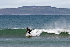Markus going right - zoom in (Nathan A) Tags: ocean ireland beach europe surf waves surfing donegal republicofireland portaleen