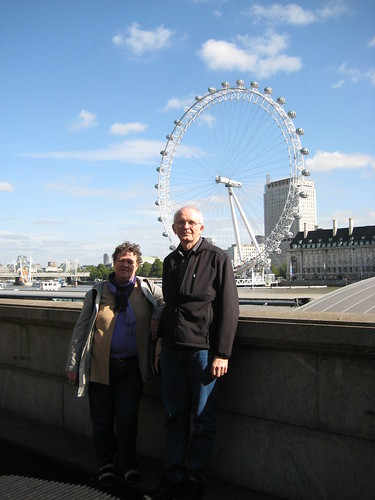 My parents in front of The London Eye