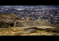 Victorian Tagging (Mr sAg) Tags: uk stone landscape landscapes town carved etching nikon rocks yorkshire rocky carving hills moors sag dales westyorkshire yorkshiredales moorland ilkleymoor outcrops jbramley emlancaster jasmarshall mrsag onilkleymoorbahtat