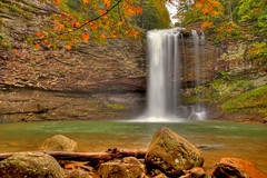The Upper Falls of Cloudland Canyon (the waterfallhunter) Tags: autumn waterfall nikond50 lookoutmountain northgeorgia cloudlandcanyon waterfall1 dadecounty georgiawaterfalls trentongeorgia danielcreek loriwalden upperfallsofcloudlandcanyon