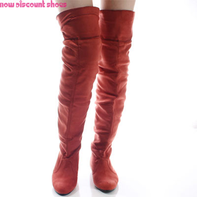 Rust-Over-The-Knee-Boots