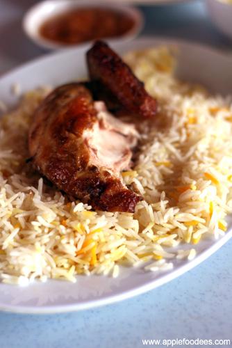 Quarter Roast Chicken with Rice