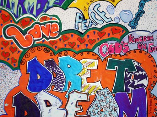 "Graffiti Alphabet ""Peace And Love"""
