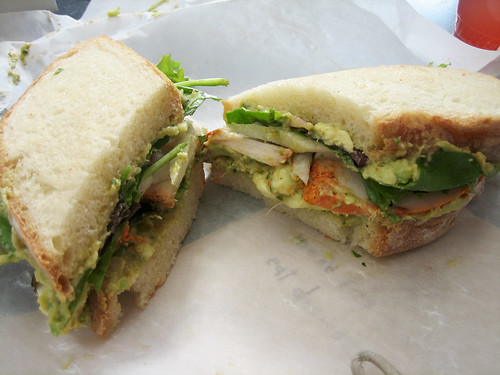 Roasted Chicken Sandwich with Avocado and Jicama
