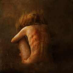 a neglected figure (brookeshaden) Tags: woman selfportrait texture girl painting ketchup neglected inspired picasso figure brookeshaden