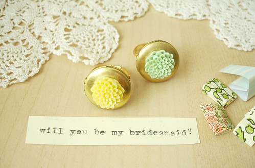 bridesmaid rings: 1