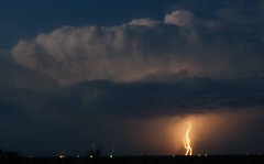 Supercell in southern Haskell County (woakley144) Tags: night clouds thunderstorm lightning supercell