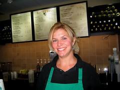 friendly , helpful Starbucks employee