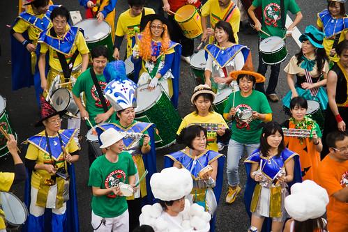 Omotesando-Avenue-Halloween-Parade-Drummers,-Tokyo-8681 by Buz Carter.