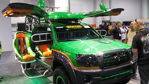 photography autoshow gamer microsoft toyota tacoma sema automobiles conceptcars allterrain crewing autotradercom megangreen