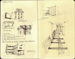 IB, 11. November 2009 (Flaf) Tags: pencil und stuttgart drawing sketchbook le universitt florian institut corbusier fr bauten schmitthenner skizzenbuch ffentliche entwerfen weisenhofsiedlung afflerbach