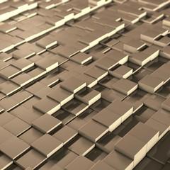 3D cube's field (Luigi De Frenza) Tags: orange yellow square 3d pattern mosaic cubes abstracts astratto cubi ripetizione quadrati