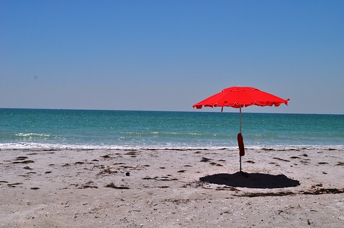 Pretty Red Tent on Little Gasparilla Island, Fla.