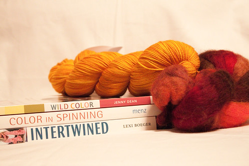 Fiber books, yarn, and fiber