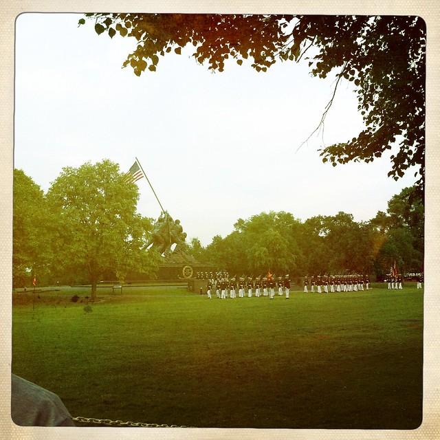 silent drill parade