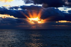 The hand of God (Lior. L) Tags: sunsetintelavivbeach sunset telaviv beach clouds cloudysunset travel travelinisrael israel telavivbeach sea seascapes sky