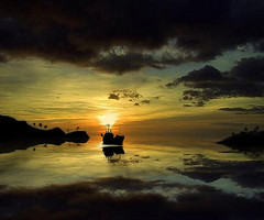 The Arrival to Heaven (digitalpsam) Tags: sunset sea art wonderful spectacular surreal carribean sail serene stvincent heavenly westindies beque andromeda50 freedancephotographers bestcapturesaoi sammatta