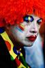 Clownish Sadness (Khaled A.K) Tags: portrait orange colors face expression clown khaled kashkari