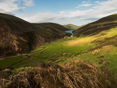 The Howe (jamalrob) Tags: house scotland countryside olympus reservoir hills valley zuiko howe pentlands pentland e510 1260 loganlea