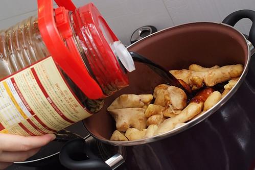 Ginger Vinegar Soup - Adding The Vinegar