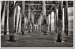 Under the Pier Old Orchard Beach.  Redux. (moe chen) Tags: blackandwhite beach pier nikon maine moe oldorchardbeach oob d300 underthepier nikon18200mm abigfave moe76