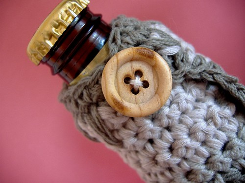 beer cozy - close up