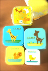 new bento treats~ (bunbunlife) Tags: bunny japan lunch box doe chick deer fawn kawaii bento giraffe tomo daiso ichibankanusa
