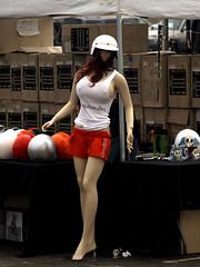 Helmet Girl (avilon_music) Tags: california mannequin losangeles mannequins helmet southerncalifornia plasticpeople kustom carshows kustomkulture markpeacockphotography