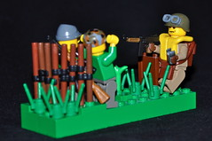 D-Day anniversary vig -- Airborne (The Ranger of Awesomeness) Tags: us flickr lego wwii airborne thompson paratroopers roa paratrooper m1a1 brickarms