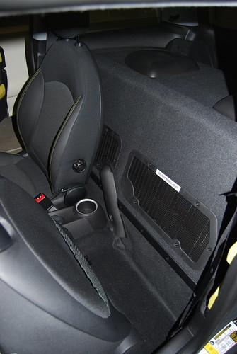 Mini-e (behind driver's seat)