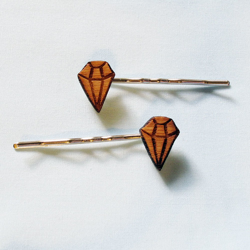 Diamond bamboo hairpins.