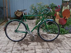side view (BikeTinker) Tags: green sachs coasterbrake rivendellquickbeam fstorpedoautomatic notduomatic logiccranks