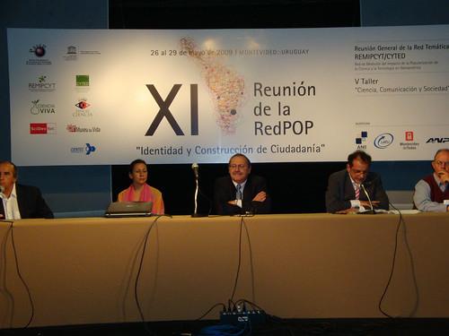 Inauguración, XI Reunión RedPop, Montevideo, Uruguay
