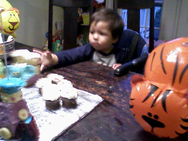 he reminds me of me at that age in that he likes cake