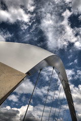Squinty Bridge, Glasgow (DaveWilsonPhotography) Tags: uk bridge scotland suspension glasgow arc hdr photomatix 3exp cooliris squintybridge