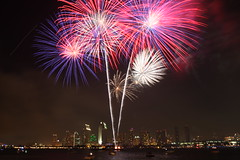 4th of July fireworks over Downtown San Diego (San Diego Shooter) Tags: california wallpaper sandiego desktopwallpaper challengeyouwinner sandiegofireworks 4thofjulysandiego coronadofireworks downtownsandiegofireworks sandiegodesktopwallpaper