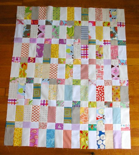 Strips and Bricks quilt top