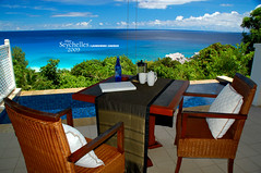 The dining area (Dan & Luiza from TravelPlusStyle.com) Tags: resort seychelles banyantreehotel