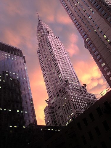 Chrysler building storm sunset 3 by you.