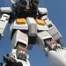 Spidey by the Massive Gundam, Tokyo. Japan 14JUL09