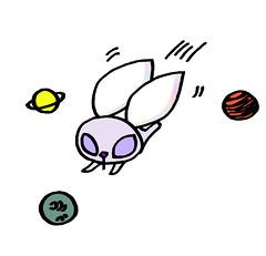 惑星の間を飛ぶ、星うさぎ