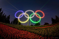 Vancouver's Olympic Rings @ YVR (Clayton Perry Photoworks) Tags: city canada color colour colors night vancouver lights airport colours bc britishcolumbia richmond explore rings olympic olympics yvr westcoast 2010 wintergames vancouver2010 vancouverolympics olympicwintergames van2010 vancouverwinterolympics omot olympicswintergames neonnightshots claytonperry vancouverwintergames
